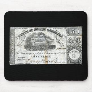1862 North Carolina 50 Cent Note Mouse Pad