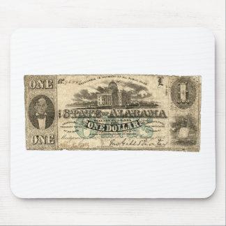 1863 Alabama One Dollar Bill Mouse Pad