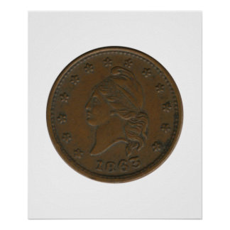 1863 Civil War Token Poster