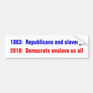 1863:  Esclavitud del final de los republicanos, 2 Pegatina Para Auto