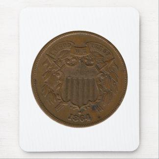 1864 2-Cent Piece Mouse Pad