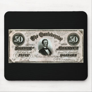 1864 Confederate Fifty Dollar Note Mouse Pad