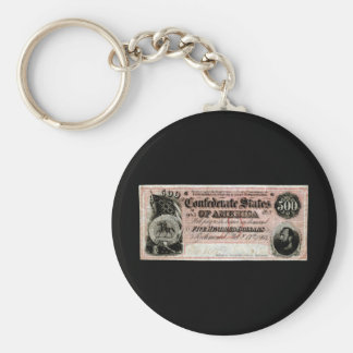 1864 Confederate Five Hundred Dollar Note Keychain