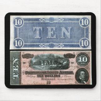1864 Confederate Virginia Banknote Mouse Pad