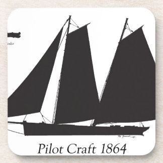 1864 Pilot Craft - tony fernandes Beverage Coaster