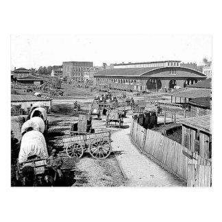 1864 Railroad Depot Atlanta Postcard
