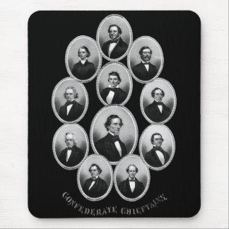 1865 caciques confederados alfombrillas de ratón