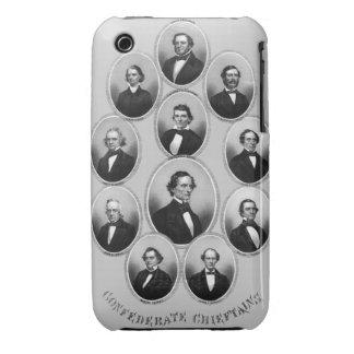 1865 caciques confederados iPhone 3 cárcasas