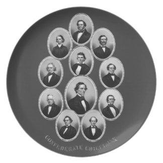 1865 caciques confederados plato de cena