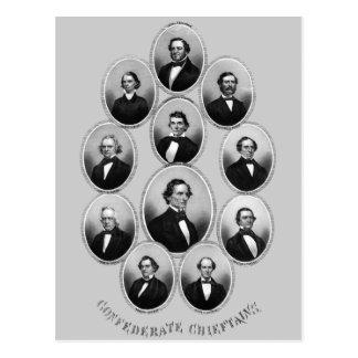 1865 caciques confederados postal
