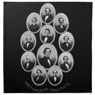 1865 caciques confederados servilleta