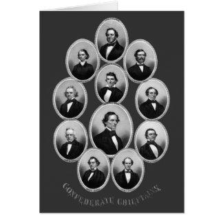 1865 caciques confederados tarjeta de felicitación
