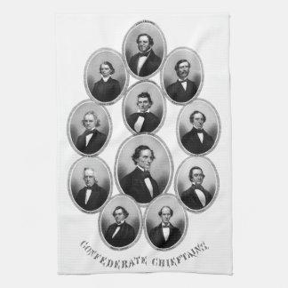 1865 Confederate Chieftains Hand Towel