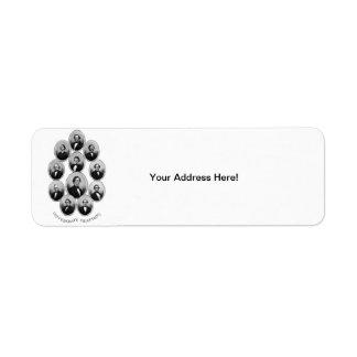 1865 Confederate Chieftains Return Address Label