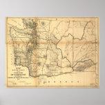 1865 Map of Washington Territory (State) Print