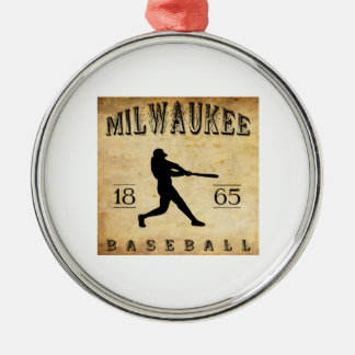 1865 Milwaukee Wisconsin Baseball Metal Ornament
