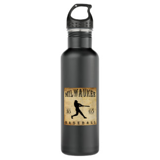 1865 Milwaukee Wisconsin Baseball Stainless Steel Water Bottle