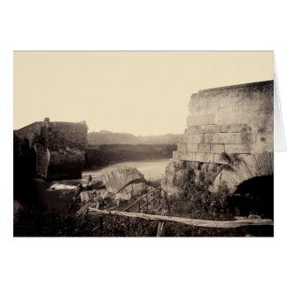 1865 Ruins of Italian Bridge Card