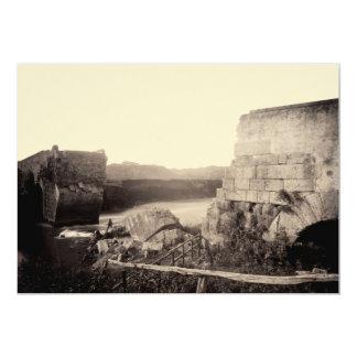 "1865 Ruins of Italian Bridge 5"" X 7"" Invitation Card"