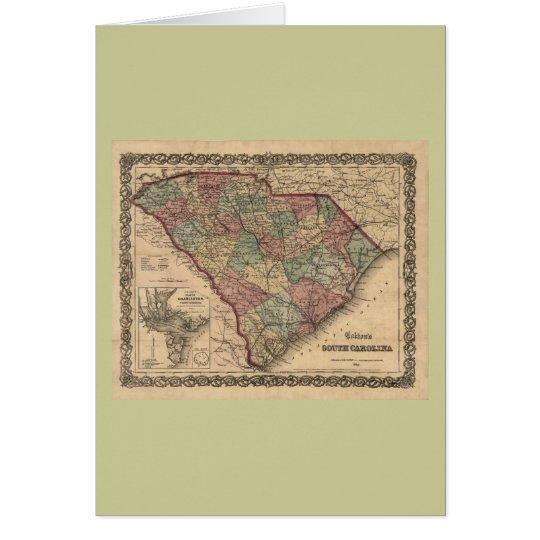 1865 South Carolina Map Card