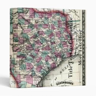 1866 Antiquarian Map of Texas by Schönberg & Co. 3 Ring Binder