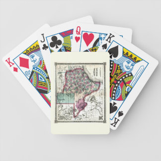 1866 Antiquarian Map of Texas by Schönberg & Co. Bicycle Playing Cards