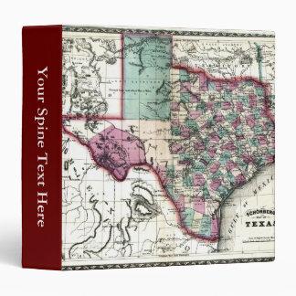 1866 Antiquarian Map of Texas by Schönberg & Co. Binder