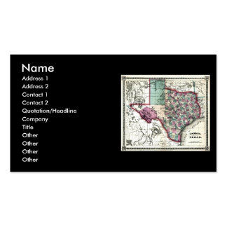 1866 Antiquarian Map of Texas by Schönberg & Co. Double-Sided Standard Business Cards (Pack Of 100)