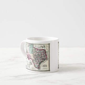 1866 Antiquarian Map of Texas by Schönberg & Co. Espresso Cup