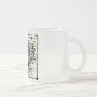 1866 Antiquarian Map of Texas by Schönberg & Co. Frosted Glass Coffee Mug