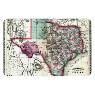 1866 Antiquarian Map of Texas by Schönberg & Co. Magnet