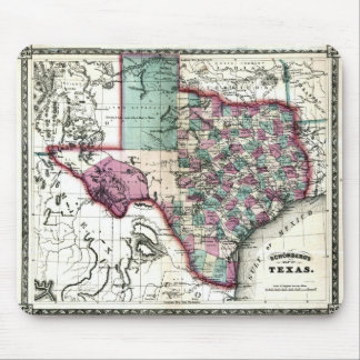 1866 Antiquarian Map of Texas by Schönberg & Co. Mouse Pad