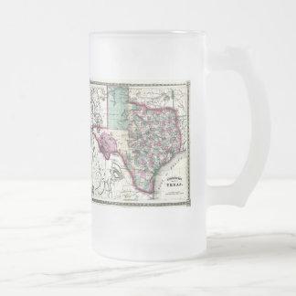 1866 Antiquarian Map of Texas by Schönberg & Co. Mugs