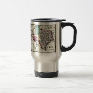 1866 Antiquarian Map of Texas by Schönberg & Co. Coffee Mugs