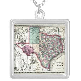 1866 Antiquarian Map of Texas by Schönberg & Co. Pendants