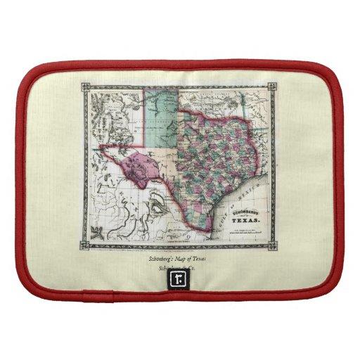 1866 Antiquarian Map of Texas by Schönberg & Co. Organizers