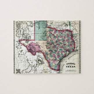 1866 Antiquarian Map of Texas by Schönberg & Co. Puzzle