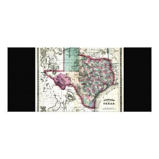 1866 Antiquarian Map of Texas by Schönberg & Co. Rack Card