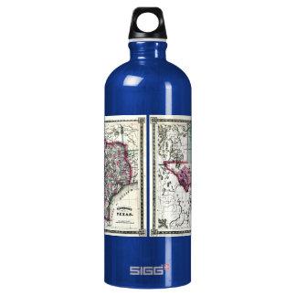 1866 Antiquarian Map of Texas by Schönberg & Co. SIGG Traveler 1.0L Water Bottle