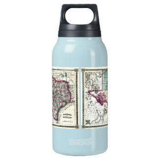 1866 Antiquarian Map of Texas by Schönberg & Co. Thermos Water Bottle