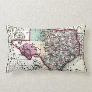 1866 Antiquarian Map of Texas by Schönberg & Co. Throw Pillow