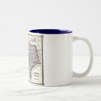 1866 Antiquarian Map of Texas by Schönberg & Co. Two-Tone Coffee Mug