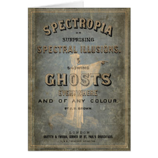 "1866 Book of Ghosts - ""Spectropia"" Greeting Card"