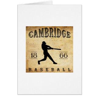 1866 Cambridge Massachusetts Baseball Stationery Note Card
