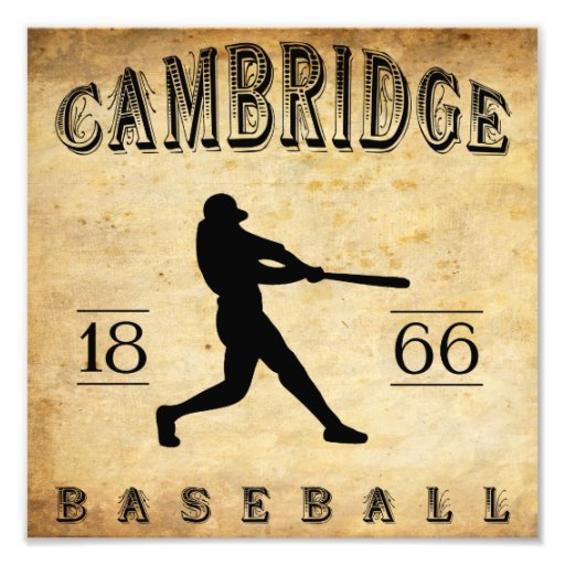 1866 Cambridge Massachusetts Baseball Photographic Print
