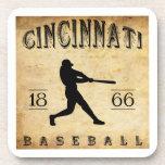 1866 Cincinnati Ohio Baseball Drink Coaster