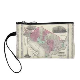 1866 Johnson Map of Washington D.C. Coin Wallet