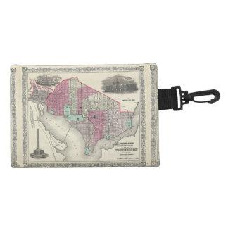 1866 Johnson Map of Washington D.C. Accessory Bags