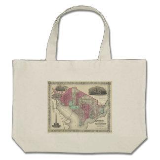 1866 Johnson Map of Washington D.C. Canvas Bag