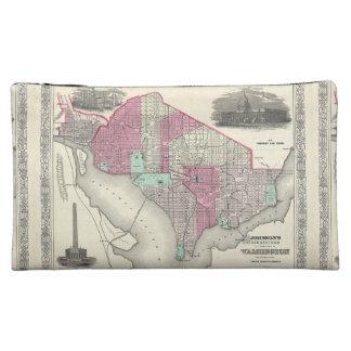 1866 Johnson Map of Washington D.C. Cosmetic Bag